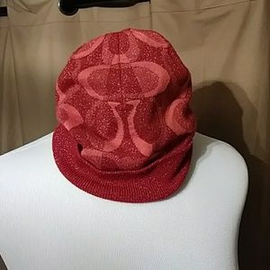 Red Sparkle Coach Winter Hat❄💨👒